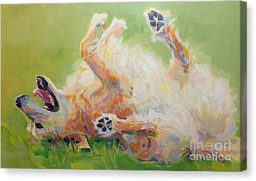 Bears Backscratch Canvas Print by Kimberly Santini