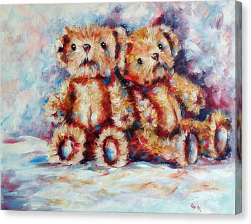 Toy Animals Canvas Print - Bears by Kovacs Anna Brigitta