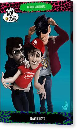 Beastie Boys Ntv Card Canvas Print
