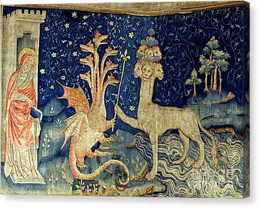Folkloric Canvas Print - Beasts Of The Apocalypse Tapestry by Photo Researchers