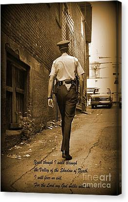 Beat Cop Canvas Print by John Malone