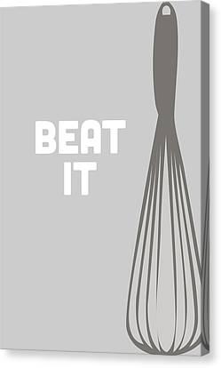 Beat It Canvas Print by Nancy Ingersoll