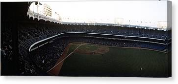 Beautiful Right Field View Of Old Yankee Stadium Canvas Print by Retro Images Archive