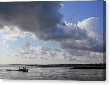 Beating The Storm Canvas Print by Amazing Jules