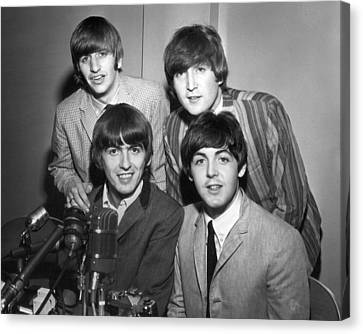 Beatle Interview Canvas Print by Retro Images Archive