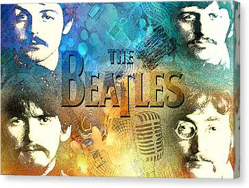 Beatle Montage Canvas Print by Greg Sharpe
