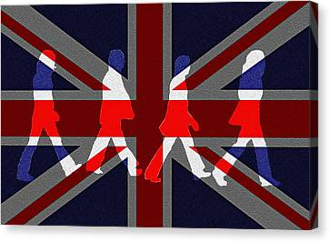 Beatles Abbey Road Flag Canvas Print by Bill Cannon