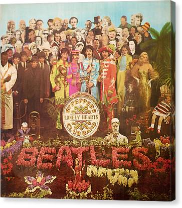 Beatles Lonely Hearts Club Band Canvas Print
