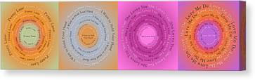 Beatles Circle Of Songs Panorama 1 Canvas Print by Andee Design