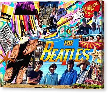 Beatles For Summer Canvas Print
