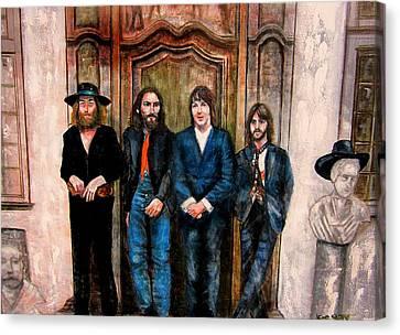 Beatles Hey Jude Canvas Print by Leland Castro