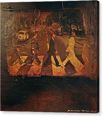 Abbey Road Canvas Print - Beatles Revisited by Roland Byrne