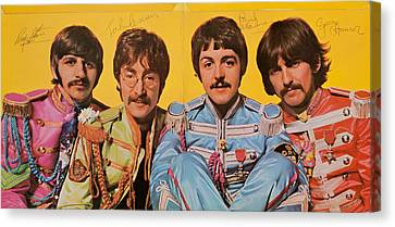 Beatles Sgt. Peppers Lonely Hearts Club Band Canvas Print by Robert Rhoads