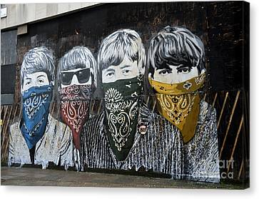 Beatles Street Mural Canvas Print by RicardMN Photography