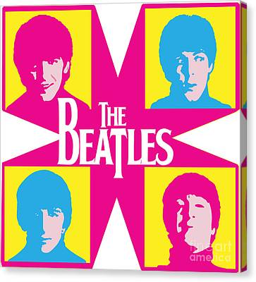 Beatles Vinil Cover Colors Project No.01 Canvas Print by Caio Caldas