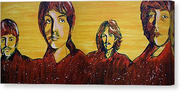 Beatles Widescreen Canvas Print by Linda Kassabian