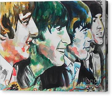 The Beatles 02 Canvas Print by Chrisann Ellis