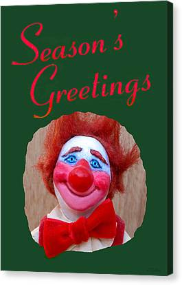 Beau - Season's Greetings Canvas Print by David Wiles