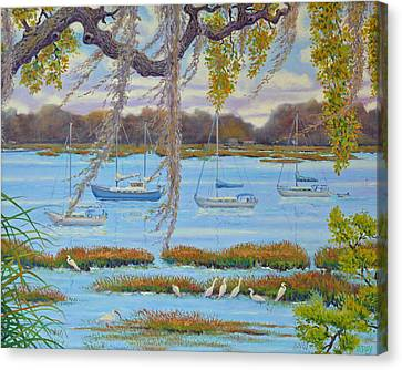 Beaufort Anchorage Canvas Print