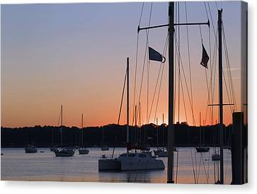 Canvas Print featuring the photograph Beaufort Sc Sunset by Bob Pardue