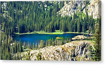 Beautiful Alpine Lake Canvas Print by Robert Bales