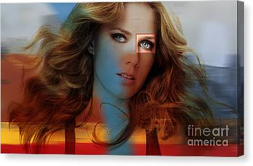 Beautiful Amy Adams Canvas Print by Marvin Blaine