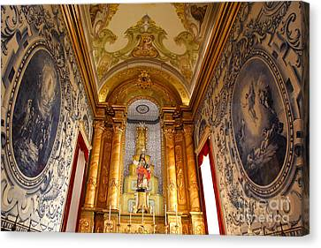 Beautiful Azorean Church Canvas Print by Gaspar Avila