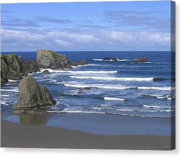 Canvas Print featuring the photograph Beautiful Bandon Beach by Will Borden