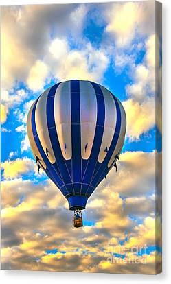 Beautiful Blue Hot Air Balloon Canvas Print by Robert Bales