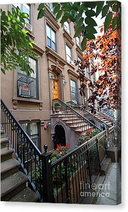 Beautiful Brownstone Home Canvas Print by Steven Spak