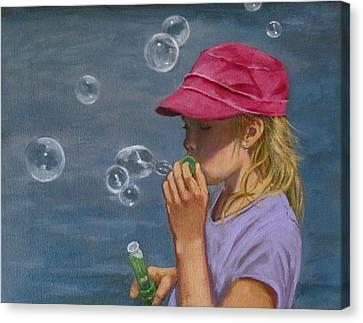 Beautiful Bubbles Canvas Print by Joyce Geleynse