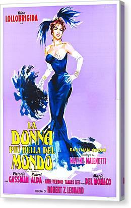 1950s Poster Art Canvas Print - Beautiful But Dangerous, Italian by Everett
