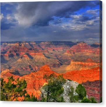 Canvas Print featuring the painting Beautiful Canyon by Bruce Nutting
