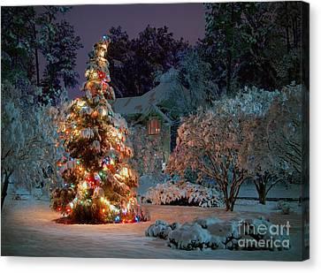 Beautiful Christmas Tree Lights Canvas Print by Boon Mee
