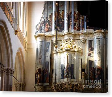 Canvas Print featuring the photograph Beautiful Church Interior by Michael Edwards