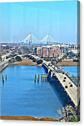 Charleston S C City View Canvas Print by Joetta Beauford