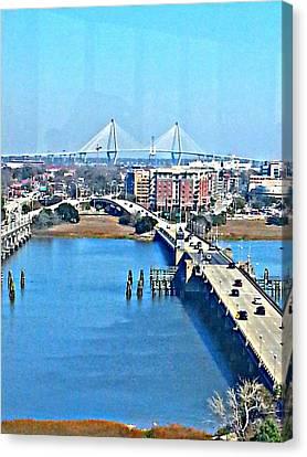 Charleston S C City View Canvas Print