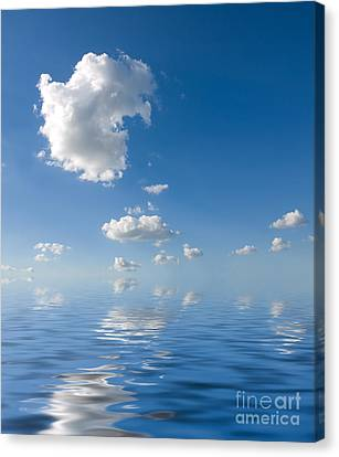 Beautiful Clouds And Sea Canvas Print by Boon Mee