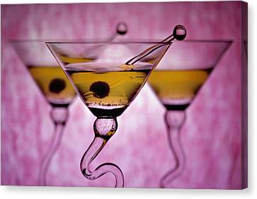 Beautiful Colorful Martini Glasses Canvas Print by Judy Kennamer