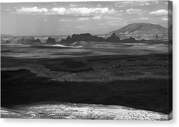 Beautiful Country In Black And White Canvas Print