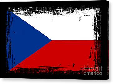 Beautiful Czech Republic Flag Canvas Print by Pamela Johnson