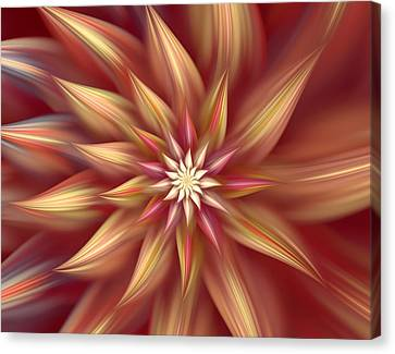 Beautiful Dahlia Abstract Canvas Print