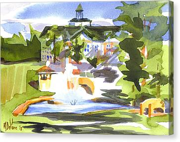 Beautiful Day At The Baptist Home Of The Ozarks In Watercolor Canvas Print by Kip DeVore