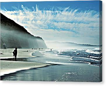Another Beautiful Day At The Beach Canvas Print by Sharon Soberon
