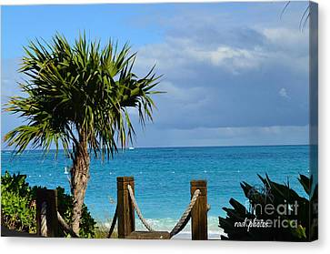 Canvas Print featuring the photograph Beautiful Day At The Beach by Judy Wolinsky