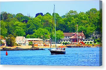 Beautiful Day For Sailing Canvas Print by Judy Palkimas