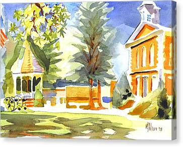 Beautiful Day On The Courthouse Square Canvas Print by Kip DeVore