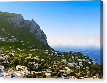 Beautiful Day On The Isle Of Capri Canvas Print by Mark E Tisdale