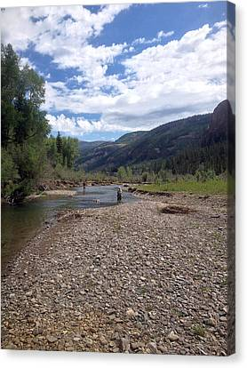 Beautiful Day On The River Canvas Print
