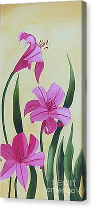 Beautiful Daylilies  Canvas Print by Ruth  Housley